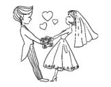 Dibujo de Casados y enamorados para colorear