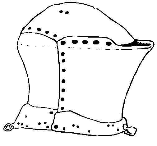 Dibujo de Casco de caballero 2 para Colorear