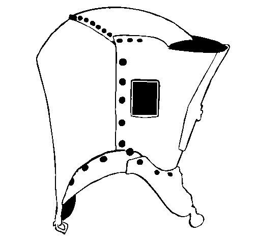 Dibujo de Casco de caballero 3 para Colorear