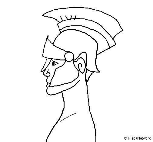 Dibujo de Casco romano para Colorear