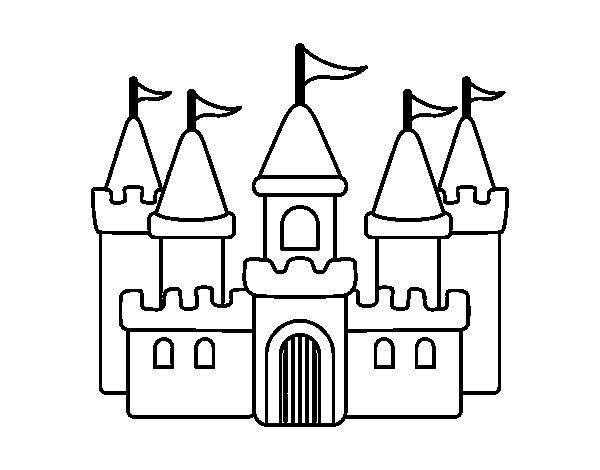 Dibujo de Castillo fantástico para Colorear - Dibujos.net