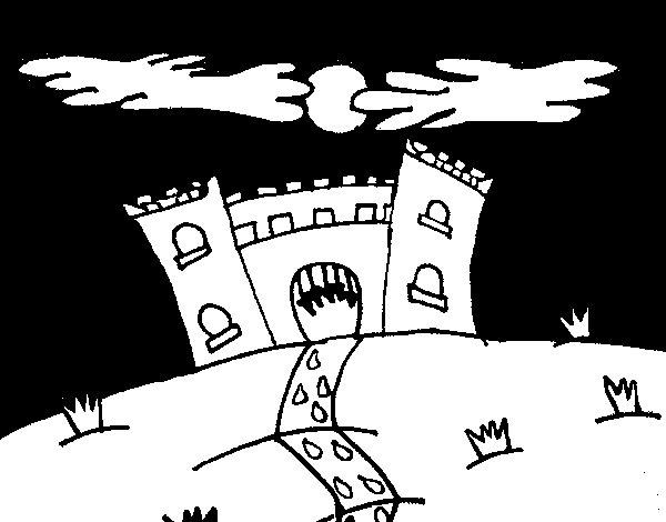 Dibujo de Castillo maléfico para Colorear