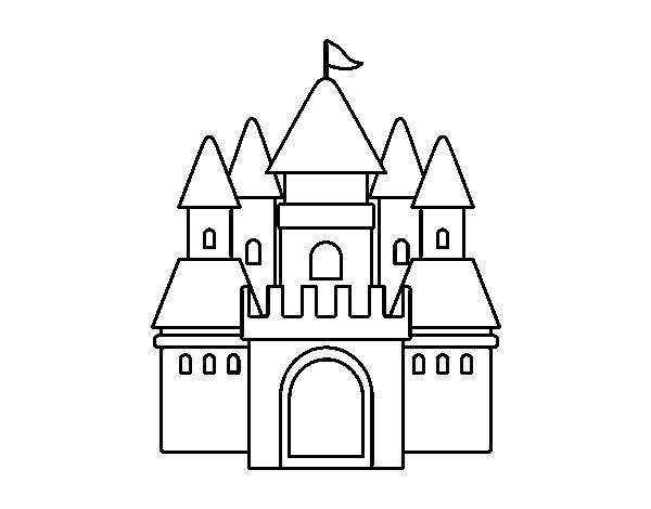 Dibujo de Castillo medieval 2 para Colorear - Dibujos.net