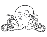 Dibujo de Cefalópodo para colorear