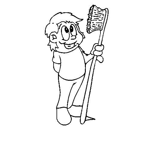 Dibujo de Cepillo de dientes 1 para Colorear