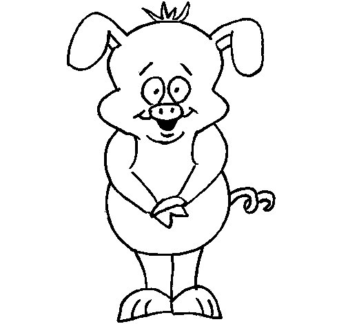 Dibujo de Cerdo 1 para Colorear