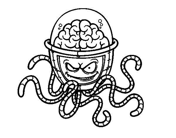 Dibujo de Cerebro mecánico para Colorear