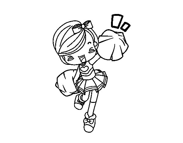Dibujo de Cheerleader para Colorear