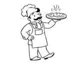 Dibujo de Chef italiano