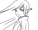 Dibujo de Chica elfo para colorear
