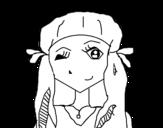 Dibujo de Chica guiñando