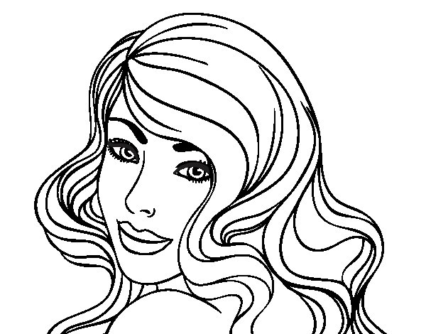 Dibujo de Chica joven para Colorear