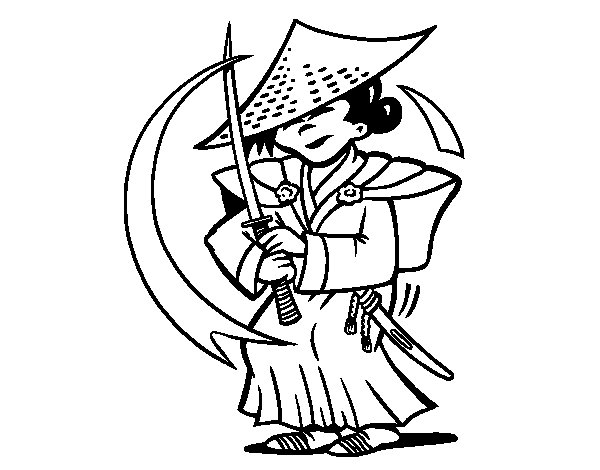 Dibujo de Chino con sable para Colorear