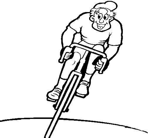 Dibujo de Ciclista con gorra para Colorear - Dibujos.net