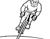 Dibujo de Ciclista con gorra para colorear