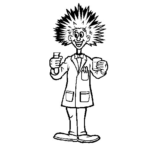 Dibujo de Científico loco para Colorear