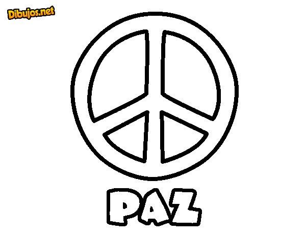 Dibujo de Círculo de la paz para Colorear
