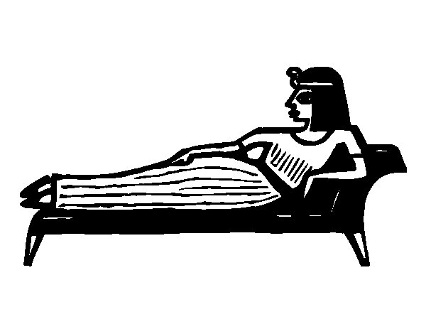 Dibujo de Cleopatra tumbada para Colorear