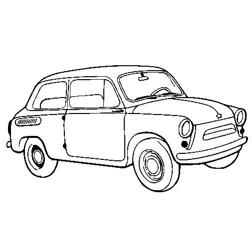 Dibujo de coche cl sico para colorear - Empapelar coche para pintar ...