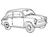 Dibujo de Coche clásico para colorear