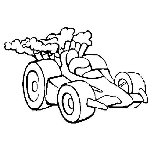 Dibujo de Coche de Fórmula 1 para Colorear