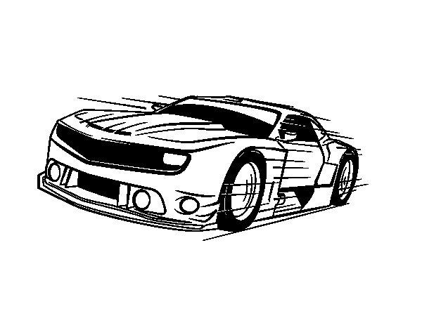 Dibujos De Coches Deportivos Para Colorear: Dibujo De Coche Deportivo Rápido Para Colorear