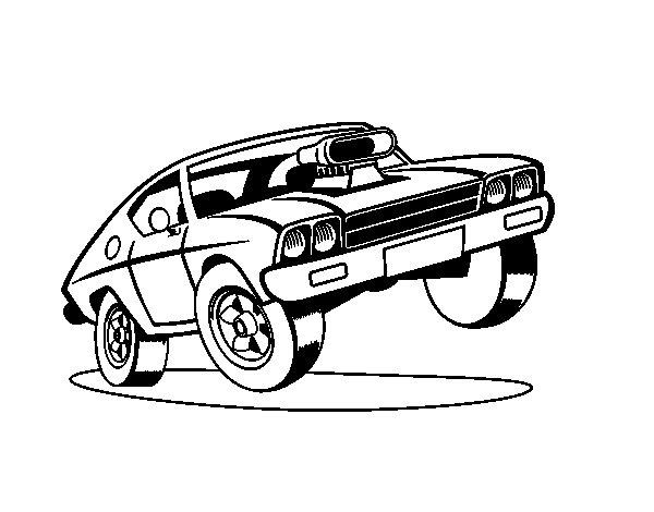 Dibujo De Coche Muscle Car Para Colorear Dibujos Net