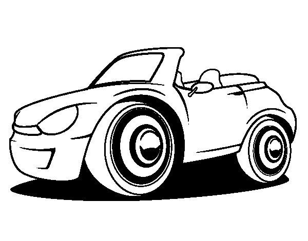 Dibujo de coche nuevo para colorear - Empapelar coche para pintar ...