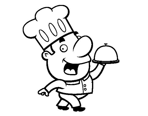 Gorros de chef para colorear - Dibujos de cocineros para colorear ...