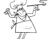 Dibujo de Cocinero II