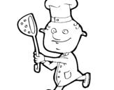 Dibujo de Cocinero III para colorear