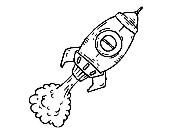 Dibujo de Cohete a propulsión para Colorear