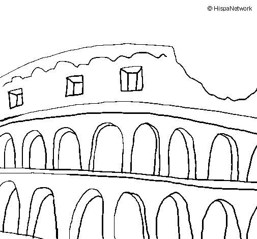 Dibujo de Coliseo para Colorear