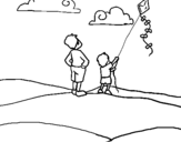Dibujo de Cometa para colorear