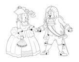 Dibujo de Conde y condesa