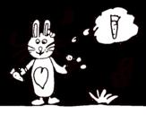 Dibujo de Conejito con zanahoria para colorear
