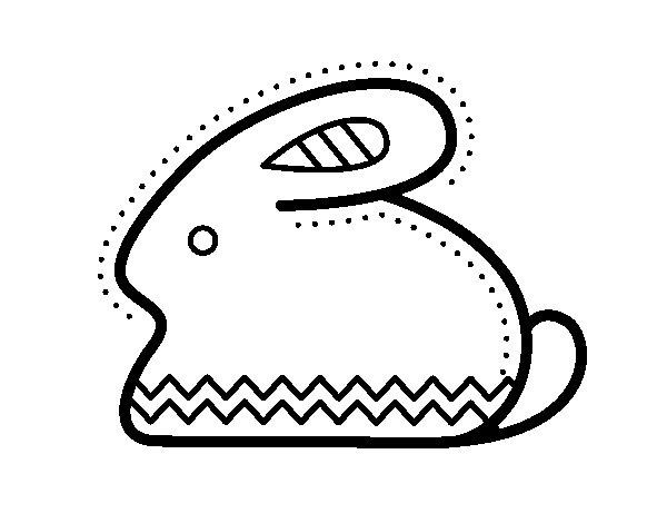 Dibujo de Conejito de Pascua lateral para Colorear