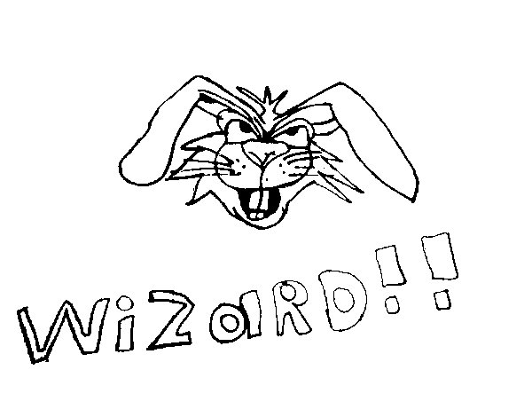 Dibujo de Conejo brujo para Colorear