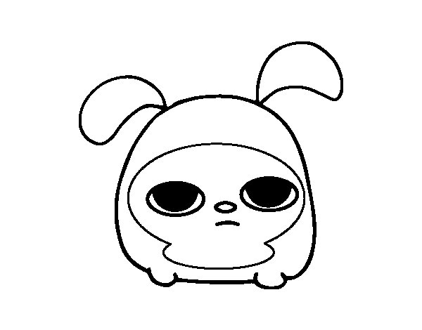 Dibujo de Conejo enano para Colorear