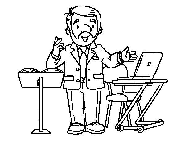 Dibujo de Conferenciante para Colorear