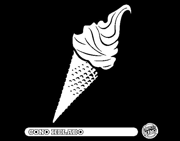 Dibujo de Cono helado para Colorear - Dibujos.net
