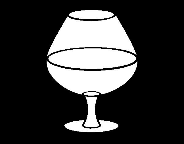 Dibujo de Copa de vino para Colorear - Dibujos.net