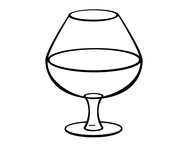 Copas De Vino Para Colorear