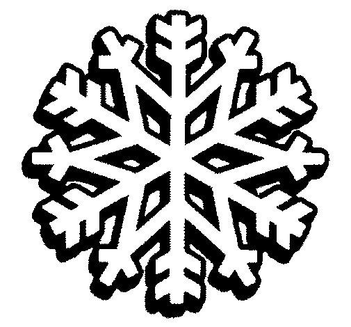 Dibujo de Copo de nieve 1 para Colorear