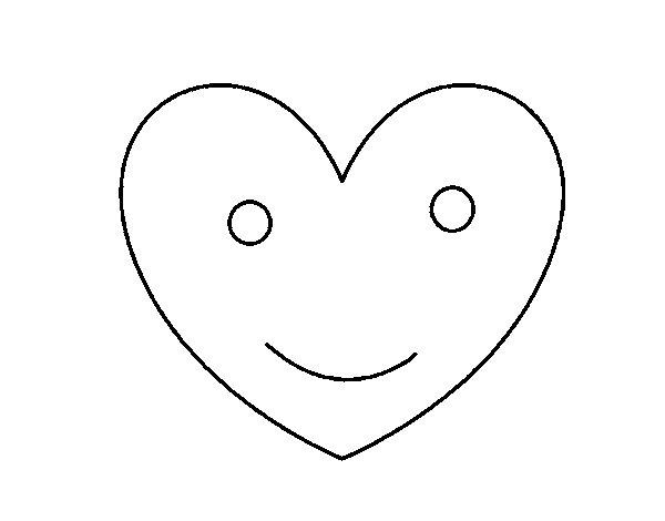 Dibujo de Corazón contento para Colorear