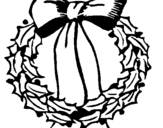 Dibujo de Corona de navidad 2 para colorear