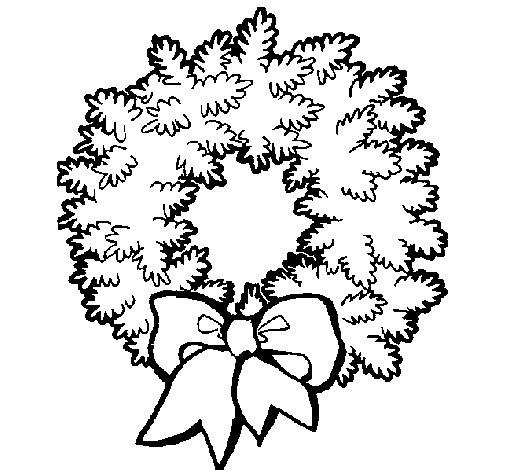 Dibujo de Corona de navidad para Colorear