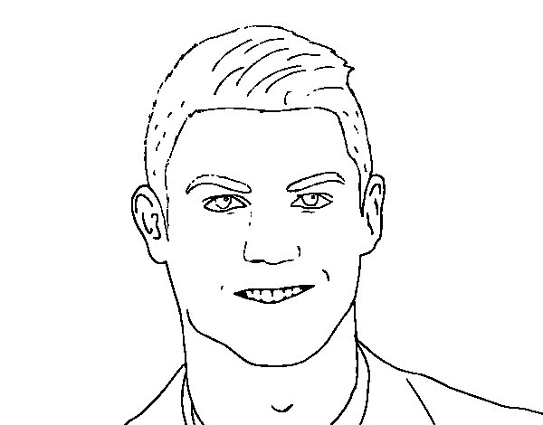 soccer coloring pages ronaldo hair - photo#9