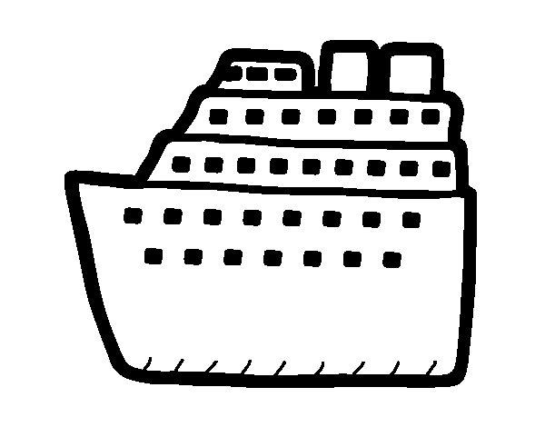 Dibujo de Crucero para Colorear