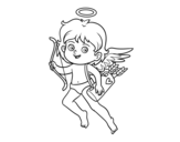 Dibujo de Cupido con su arco mágico